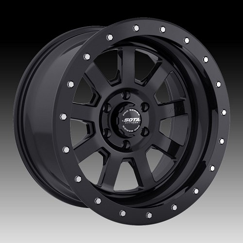 SOTA Offroad Pro Series S.S.D. Stealth Black Custom Truck Wheels Rims 1