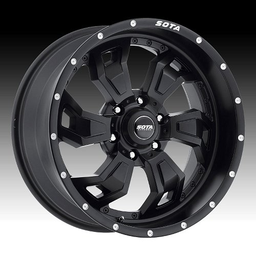 SOTA Offroad S.C.A.R. Stealth Black Custom Truck Wheels Rims 1