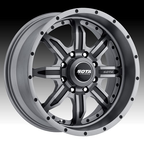 SOTA Offroad SPYK Anthra-Kote Custom Truck Wheels Rims 1
