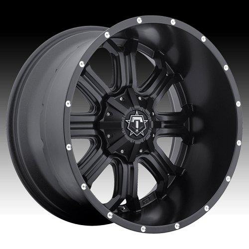 TIS 535B TISM35 Satin Black Custom Rims Wheels 1