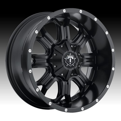 TIS 535B TISM35 Satin Black Custom Rims Wheels 2