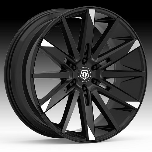 TIS Wheels 545MBT Gloss Machined Black Custom Wheels Rims 1