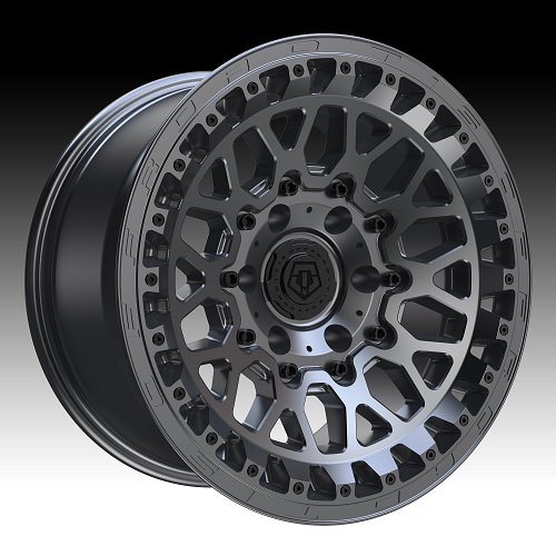 TIS Wheels 555A Satin Anthracite Custom Truck Wheels 1