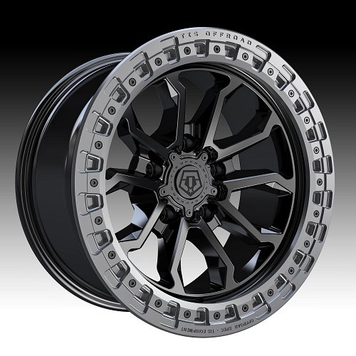 TIS Wheels 556BA (5-Lug) Satin Black Custom Truck Wheels 1