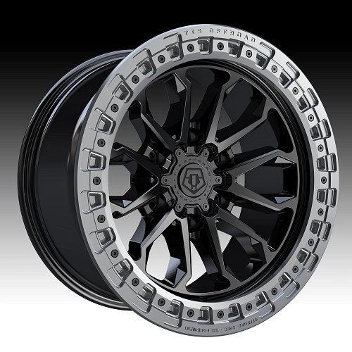 TIS Wheels 556BA (6-Lug) Satin Black Custom Truck Wheels 1