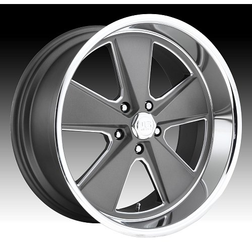 US Mags Roadster U120 Gray Machined Custom Wheels Rims 1