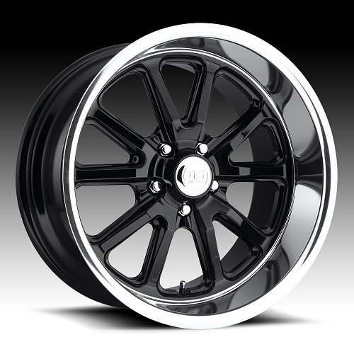 US Mags Rambler U121 Black Machined Custom Wheels Rims 1