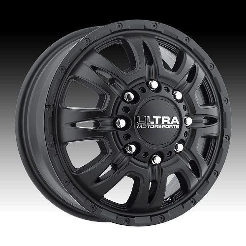 Ultra 049 Predator Dually Satin Black Custom Wheels Rims 1