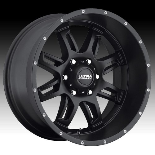 Ultra 241SB Gunner Satin Black Custom Wheels Rims 1
