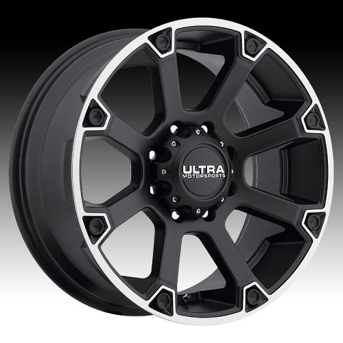 Ultra 245 Spline Satin Black Custom Wheels Rims 1