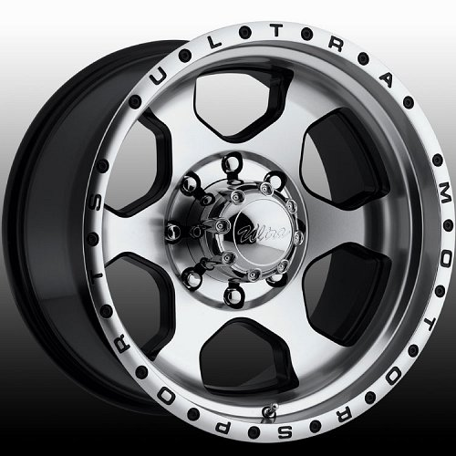 Ultra 175M 175 Rogue Machined and Black Custom Rims Wheels 1