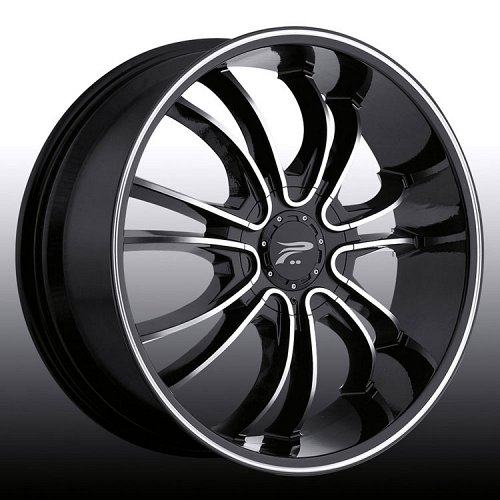 Platinum 406B 406 America Machined Black Custom Rims Wheels 1