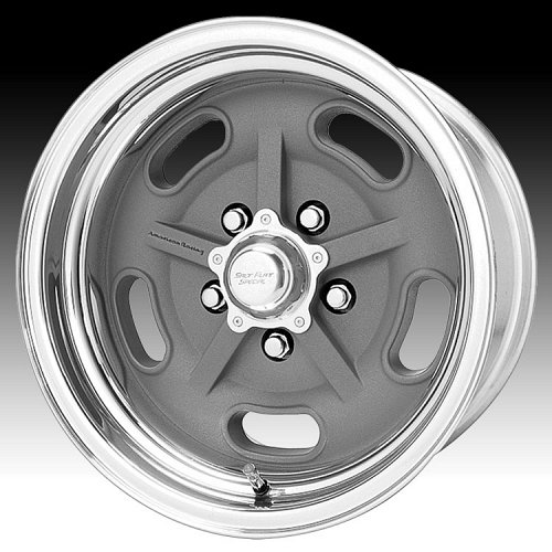 American Racing VN470 470 Salt Flat Special 2-PC Mag Gray Polished Custom Rims W 1