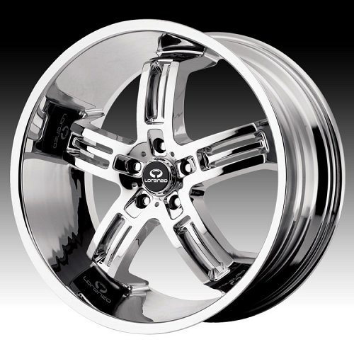 Lorenzo WL026 WL26 Chrome Custom Rims Wheels 1