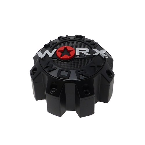 WRX-8808LSB / Worx Alloy 8-Lug Satin Black Bolt On Center Cap 1