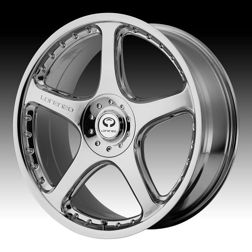 Lorenzo WL028 WL28 Chrome Custom Rims Wheels 1