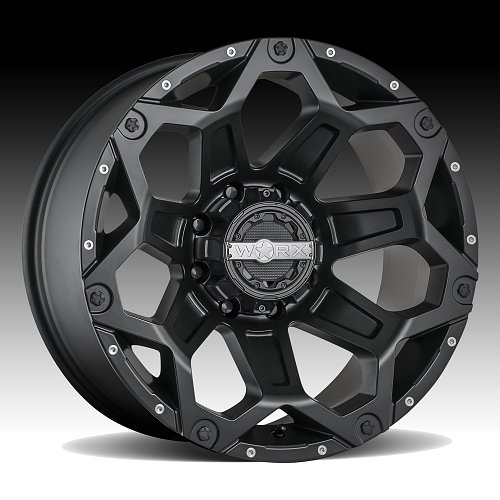 Worx Alloy 812SB Clash Satin Black Custom Wheels Rims 1