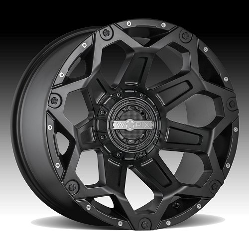 Worx Alloy 812SB Clash Satin Black Custom Wheels Rims 2