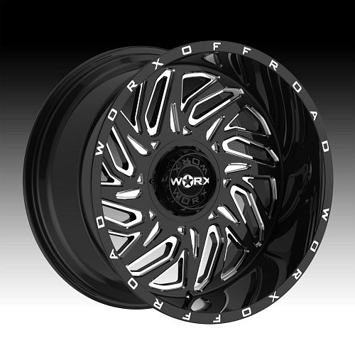 Worx Alloy 817BM Carnage Gloss Black Milled Custom Wheels Rims 1
