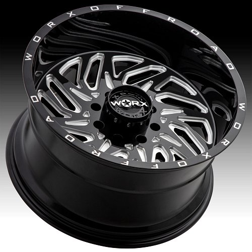 Worx Alloy 817BM Carnage Gloss Black Milled Custom Wheels Rims 2