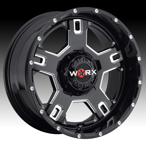 Worx Alloy 802 Havoc Satin Black w/ Milled Accents Custom Rims Wheels 1
