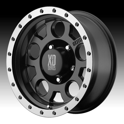 KMC XD Series XD125 Matte Black with Bead Ring Custom Wheels Rims 1