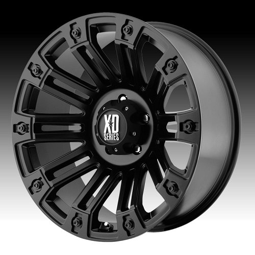 KMC XD Series XD810 Brigade Satin Black Custom Wheels Rims 1