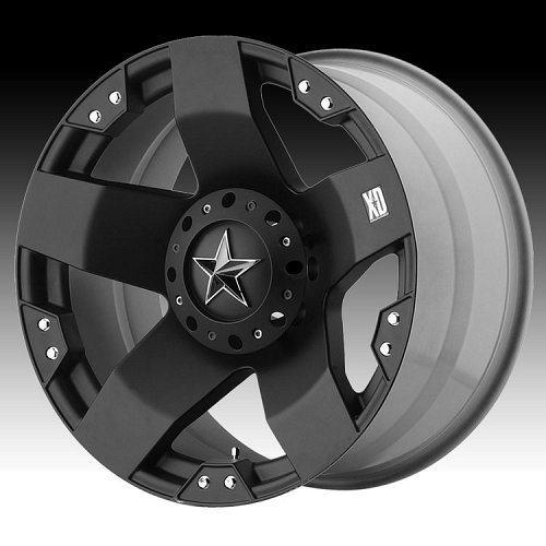 KMC XD Series XD775 Rockstar Matte Black Custom Wheels Rims 1