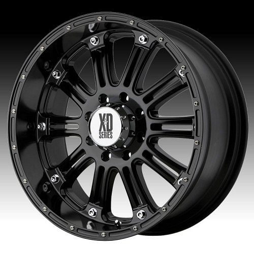 KMC XD Series XD795 Hoss Gloss Black Custom Wheels Rims 1