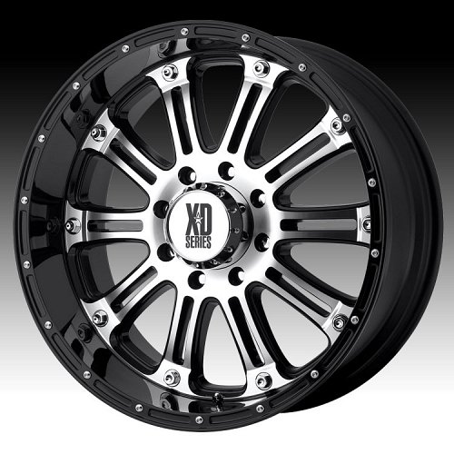 KMC XD Series XD795 Hoss Machined w/ Gloss Black Custom Wheels Rims 1