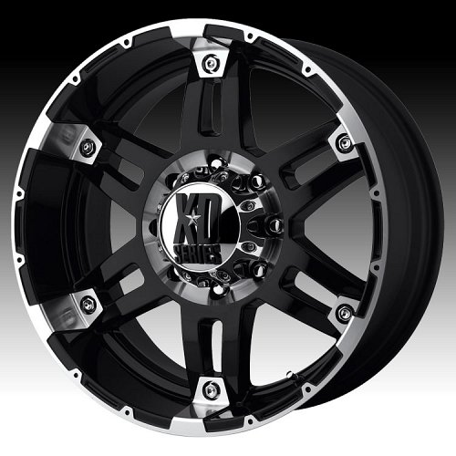KMC XD Series XD797 Spy Gloss Black Machined Custom Wheels Rims 1