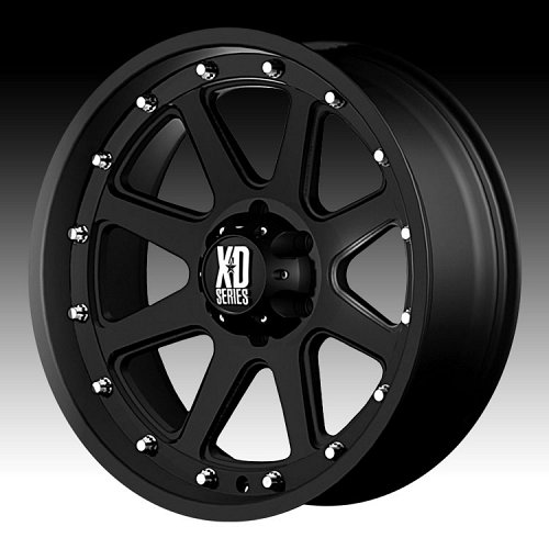 KMC XD Series XD798 Addict Matte Black Custom Wheels Rims 1