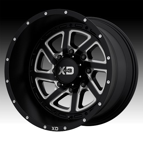 KMC XD Series XD833 Recoil Satin Black Milled Custom Wheels Rims 1