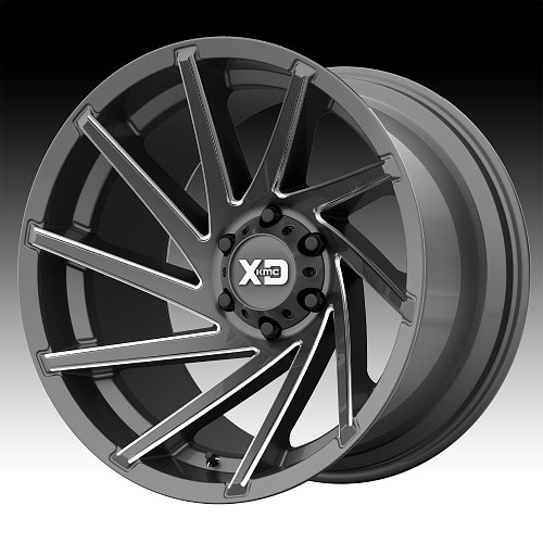 KMC XD Series XD834 Cyclone Satin Gray Milled Custom Wheels Rims 1