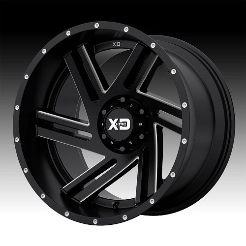 KMC XD Series XD835 Swipe Satin Black Milled Custom Wheels Rims 1