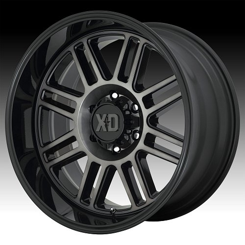 KMC XD Series XD850 Cage Machined Black Grey Tint Custom Wheels Rims 1