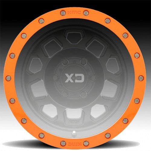 "XDBR18-OR / KMC XD132 18"" Orange Beadlock Ring 1"